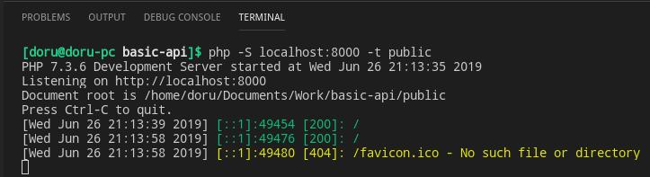 Start API locally