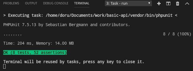 Lumen API Run PHPUnit Tests using Xdebug